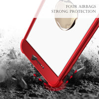 For iPhone 6S 6 Plus Fitted Cases 360 Full Protection Back Cover For iPhone 7 6 6S Shockproof PC Front TPU Case Coque - BLUENYLEDIRECT