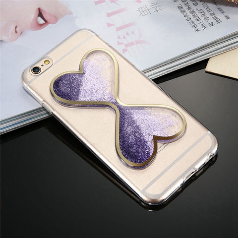 For iPhone 7 6 6S Plus For iPhone SE 5 5S Phone Cases Dynamic Quicksand Clear Cover For Samsung Galaxy S6 S7 Edge Case - BLUENYLEDIRECT
