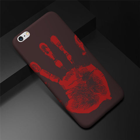 iPhone 7 8 Plus iPhone 6 6S Plus Case Fun Thermal Sensor Color Changing Phone Cases For iPhone X iPhone8 Case Bag - BLUENYLEDIRECT