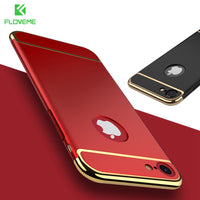 For iPhone 7 Plus iPhone 6 6S Armor Case Red Black Hard PC Phone Cases For iPhone 6 6S 7 Plus Luxury Shockproof Cover - BLUENYLEDIRECT