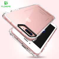 For iPhone 8 7 7 Plus Case Card Slot Transparent Silicon Phone Cases For iPhone 6 6S iPhone 6 6S Plus Card Holder Cover - BLUENYLEDIRECT