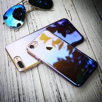 For iPhone X 10 2017 Blue Ray Case For iPhone 8 7 Plus Phone Cases Luxury Gradient Aurora Cover For Apple iPhone X - BLUENYLEDIRECT