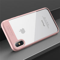 For iPhone X 10 Case Ultra Thin Transparent Mirror TPU PC Cover For iPhone 8 7 iPhone 6 6S Plus Accessories - BLUENYLEDIRECT