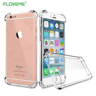 For iPhone X 2017 New Luxury Case ,  Transparent Clear Cover For iPhone 8 iPhone 6 6S Plus 7 Plus Case Anti-knock Fundas - BLUENYLEDIRECT