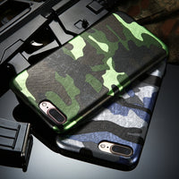 For iPhone X iPhone 8 7 Plus Case Camouflage Armor Men Case For iPhone 5S SE 5 iPhone 6 Plus 6S Plus Accessories Capa - BLUENYLEDIRECT