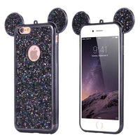 Glitter Cover For iPhone 6 6S Plus iPhone 7 8 Plus X Phone Case Cute 3D Mickey Mouse Coque Capa For iPhone SE 5S S Cases - BLUENYLEDIRECT