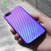 Gradient Light Case For iPhone 7 6 6S Plus Phone Cases Blue Ray Upgraded Thin Plastic Cover For iPhone 6 iPhone 7 Cases - BLUENYLEDIRECT
