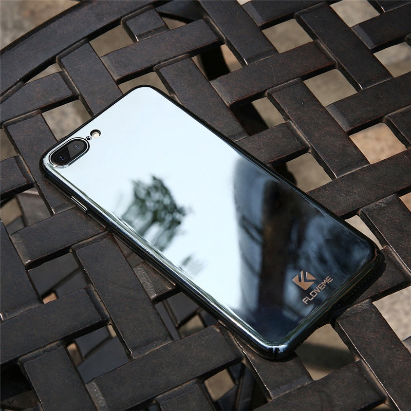 Mirror cover for iphone 7 6 iphone 5 5s se 7 6 6s plus for Coque iphone 5 miroir