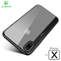 For Apple iPhone X 2017 Case , Luxury Transparent Mirror Cover For iPhone X Case Ultra Thin TPU PC Mobile Phone Bag - BLUENYLEDIRECT