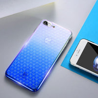 Grid Blue Ray Cover For iPhone 6 6S iPhone 6 Plus Phone Cases Gradient Light Fundas For iPhone 7 Plus Fitted Cases - BLUENYLEDIRECT