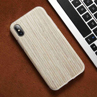 Original Real Wood Silicon Case For iPhone X iPhone 7 8 Plus Luxury Wooden Phone Cover For iPhone X 10 6 6S Plus Case - BLUENYLEDIRECT