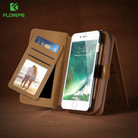 Phone Bag Case For iPhone 7 6 6S Plus Wallet Pouch For Samsung Galaxy S8 Plus S6 S7 Edge Note 5 Cases For Huawei Mate 9 - BLUENYLEDIRECT