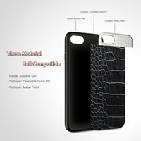 Sexy Crocodile Patterned Bag Cover For iPhone 7 iPhone 6S 6 Case in Fitted Cases For iPhone 7 6 6S Coque Accessories - BLUENYLEDIRECT