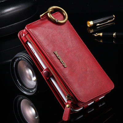 Two-Piece Wallet Pouch Case For iPhone X 8 7 Cases 18 Card Slot Cover For iPhone 8 7 6 6S Plus 5 5S SE Mobile Phone Bag - BLUENYLEDIRECT