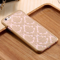 Vintage Flower Plastic Case Cover For Apple iPhone X 7 7 Plus 6 6S Plus iPhone 5S 5 SE Clear Floral Mobile Phone Case - BLUENYLEDIRECT