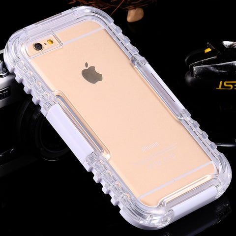 Waterproof Case For iPhone 6 6S iPhone 7 Plus Swimming Diving Underwater Transparent Cover For iPhone 7 6 6S Plus Cases - BLUENYLEDIRECT