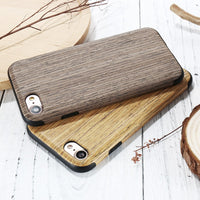 Wood Grain Case For iPhone X 8 iPhone 5S 5 SE Ultra Thin Cell Phone Cover For iPhone 8 7 6S 6 Plus Cases Accessories - BLUENYLEDIRECT