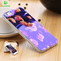 FLOVEME i5 5S SE Mobile Phone Case For iPhone 7 6 6S Plus Glitter Light Cover For iPhone 5 5S SE Case iPhone5 5S SE Cases Bag - BLUENYLEDIRECT