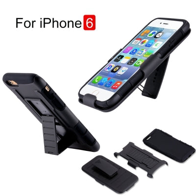 3 in 1 Armor Hybrid Hard Case For iPhone 6 6S Plus 5 5S SE For iPhone 6 6S Plus 7 Plus Phone Cases Kickstand Cover Capa - BLUENYLEDIRECT