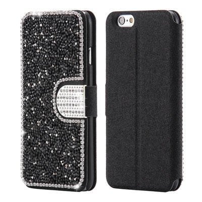 Bling Diamond Case For iPhone 5 5S SE Rhineston Glitter Wallet Flip Leather For iPhone 7 6 6S Plus 5 Mobile Phone Cover - BLUENYLEDIRECT
