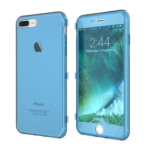 Case For iPhone 7 Plus Soft TPU Gel Clear Ultra Flip Case For iPhone 6 6S Full Body Transparent Cover Phone Cover Capa - BLUENYLEDIRECT
