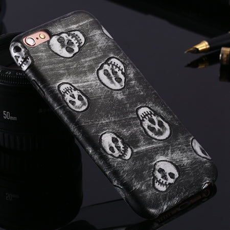 For iPhone 6 Plus Skull Cover Cool Metal Color Slim Leather Case For iPhone 6 6S For iPhone 6 Plus 6S Plus 5 5S SE Capa - BLUENYLEDIRECT