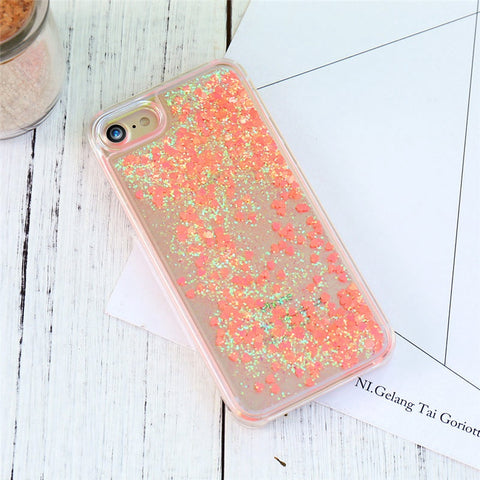 Glitter Quicksand Case For iPhone 7 6 6S Plus 5 5S SE 4 4S For Samsung S7 S6 Edge Plus Note 5 4 A5 A7 J5 J7 2016 Cases - BLUENYLEDIRECT