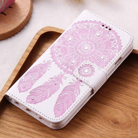 Leather Case For iPhone X iPhone 7 6 6S Plus 8 5 5S SE iPhone8 Wallet Cases For Samsung Galaxy S8 Plus S7 S6 Edge S5 - BLUENYLEDIRECT