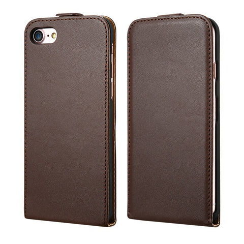 Leather Phones Case For Apple iPhone 5 5S 5G For iPhone SE Vertical Flip Vintage Phone Bag For iPhone 7 6 6S Plus Cases - BLUENYLEDIRECT