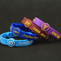 Signature Sports Silicone Women Men's NBA Bracelets Adjustable Bangles for Basketball lover Fans Wrist Strap jewelry