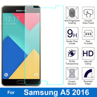 Samsung GALAXY A5 A 5 2016 Screen Protector 9H Tempered Glass Protective - BLUENYLEDIRECT