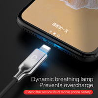 iphone 8 X  USB Cable Fast Charger For iphone 7 6 plus i5 iphone 5 s se ipad Auto Disconnect Led cable - BLUENYLEDIRECT