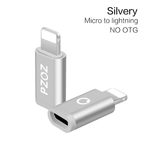 Micro USB Adapter to Lightning adapter type c otg Converter USB C Charger&Sync Data Cabel for iPhone 8 7 6 5 iPad Air Cable - BLUENYLEDIRECT