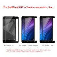 Tempered Glass For Xiaomi RedMi 4 Full Screen Protector - BLUENYLEDIRECT