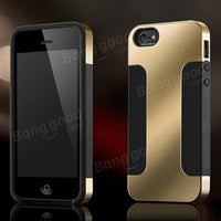 Hybrid Plated PC Soft Silicon Double Layer Case For iPhone 4 4S 5 5S - BLUENYLEDIRECT