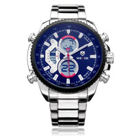 Multi Function Stainless Steel Watch - BLUENYLEDIRECT