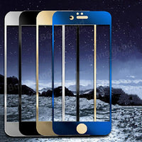 Colored Full Real Tempered Glass Screen Protector For iPhone 6 - BLUENYLEDIRECT