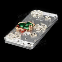 Christmas Handmade Bling Christmas Bell Shape Case For iPhone 5 5S - BLUENYLEDIRECT