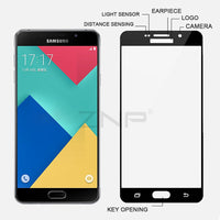 Tempered Glass For Samsung Galaxy A5 A7 A3 2016 Full cover Screen Protector - BLUENYLEDIRECT
