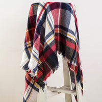 Tartan Cashmere Scarf Women Plaid Blanket Scarf New Designer Acrylic Basic Shawls Women's Scarves and Wraps