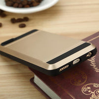 Hidden Card Slot PC TPU Case For iPhone 5 5S SE - BLUENYLEDIRECT