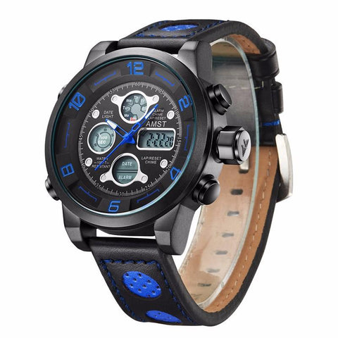 Alarm LED Men Student Military Outdoor Hiking Watch - BLUENYLEDIRECT