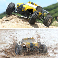 HBX 12891 1/12 4WD 2.4G Waterproof Hydraulic Damper RC Desert Buggy Truck with LED Light - BLUENYLEDIRECT