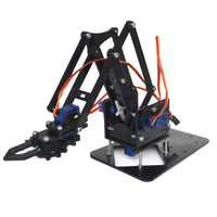 4DOF Assembling Acrylic Mechine Robot Arm with SG90 Plastic Gear Servo For Robot DIY - BLUENYLEDIRECT