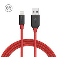BlitzWolf® Ampcore BW-MF8 2.4A Lightning Braided Data Cable 6ft/1.8m for iPhone 8 Plus X 7 Plus - BLUENYLEDIRECT