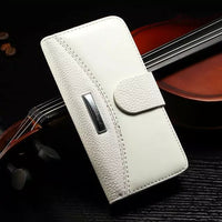 PU Leather Shockproof Flip Over Wallet Case For iPhone 5 5S SE - BLUENYLEDIRECT