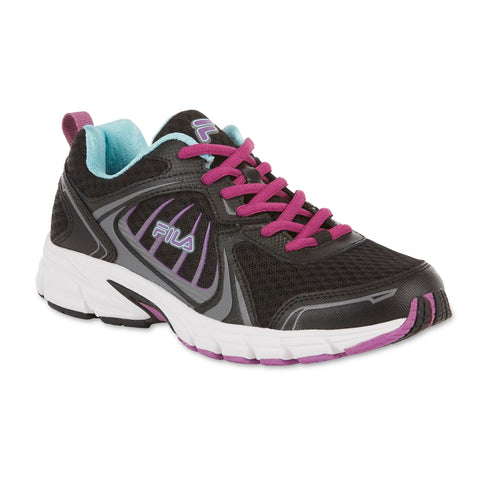 Fila Women Memory Deltaspeed 2 Black/Blue/Purple Athletic Shoe - BLUENYLEDIRECT