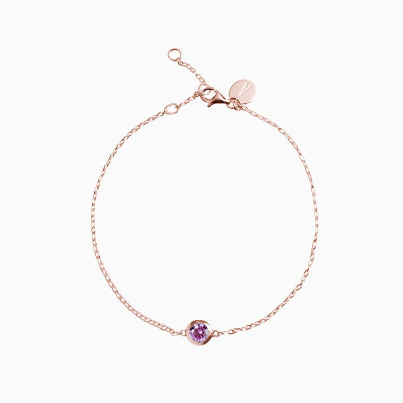 Iconic Gold Rose Zirconia Purple Bracelet