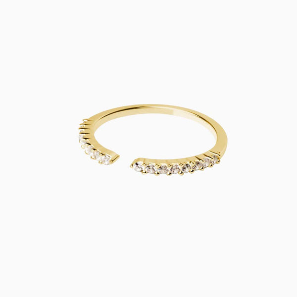 Anillo Stylish Circonitas Oro