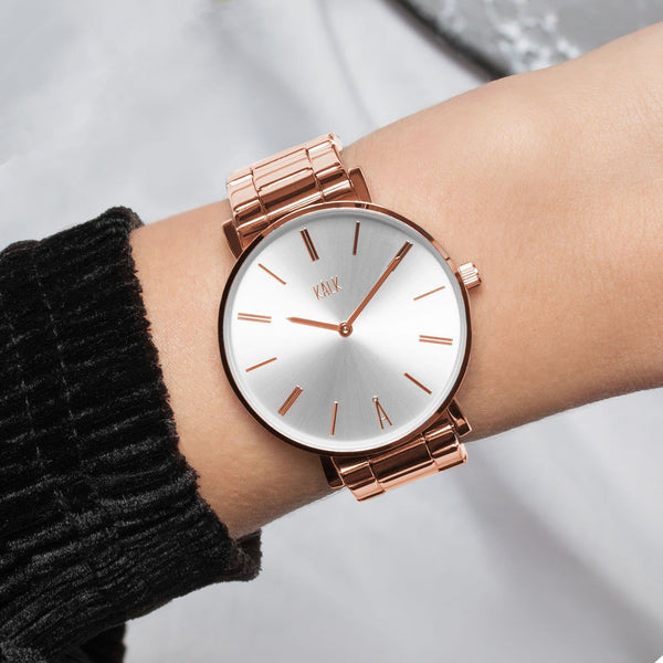 Montre Classy or rose / blanc